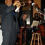 Marcus Blowing with Pianist Bill Meyer and Bassist Marion Hayden Looking On