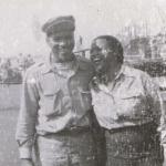 Franz and First Wife Maxine Overseas in the USO